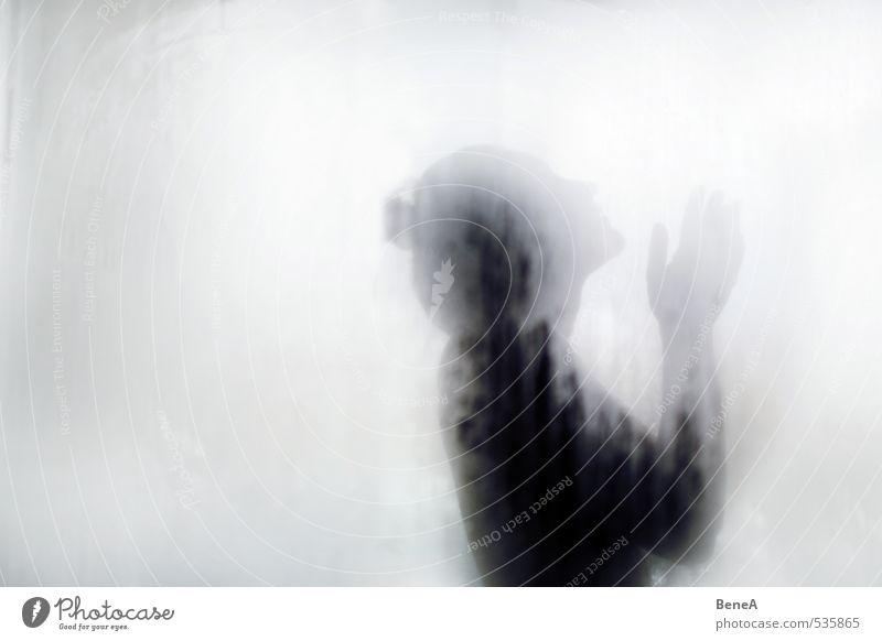 Bright Körperpflege Gesicht Unter der Dusche (Aktivität) Wellness Wohlgefühl Erholung ruhig Spa Dampfbad Mensch feminin Junge Frau Jugendliche Erwachsene Glas