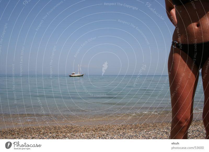 Korfu Sea See Meer Strand Schwimmen & Baden Bucht Im Wasser treiben