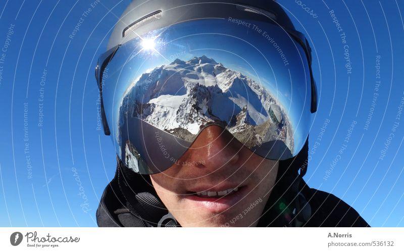 AlpenImVisier Lifestyle Freude Ferien & Urlaub & Reisen Winter Schnee Winterurlaub Berge u. Gebirge Sport Wintersport Skifahren Snowboard Mensch 1 Natur Erde