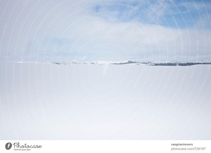 Ferien & Urlaub & Reisen blau weiß Winter schwarz kalt Sport Lifestyle Horizont Schneefall Idylle Abenteuer Coolness Hügel frieren Skigebiet