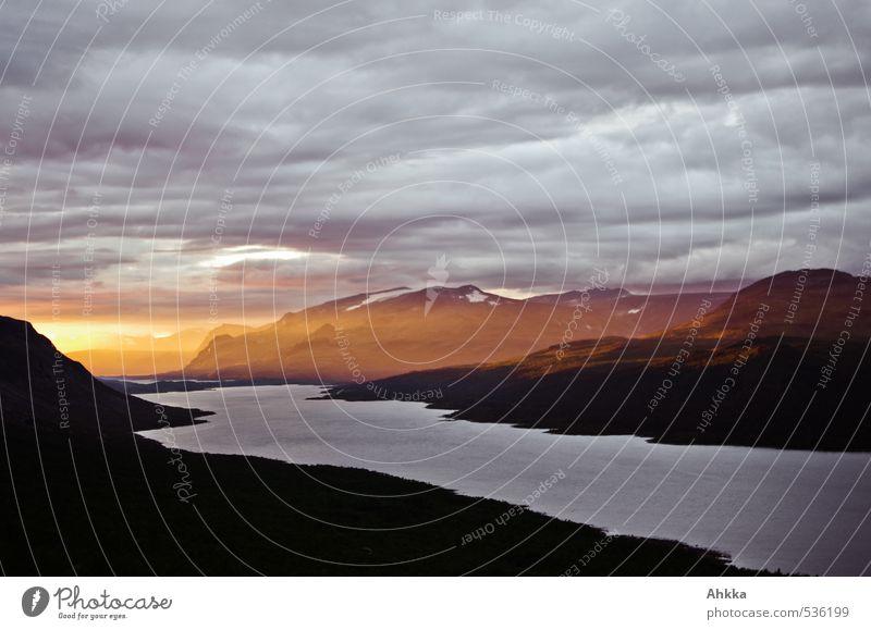 Lichtblick Landschaft ruhig Ferne Berge u. Gebirge Leben Liebe Freiheit See wandern Perspektive Energie Zukunft Kommunizieren Abenteuer Macht Wandel & Veränderung