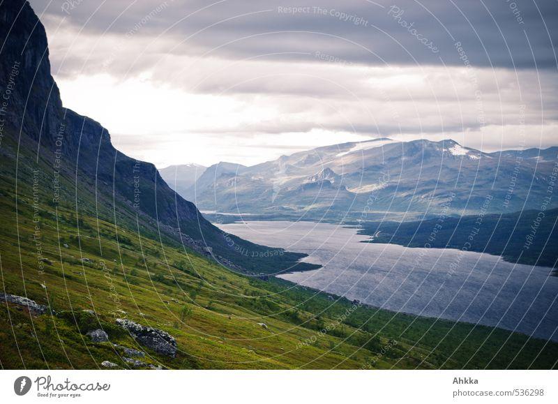 ab jetzt wirds kalt Natur Ferien & Urlaub & Reisen blau Landschaft Wolken Winter Ferne Umwelt Berge u. Gebirge Freiheit See Stimmung Kraft Zufriedenheit Klima