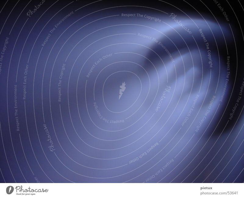 Licht aus dem Nichts Himmel blau schwarz dunkel Nebel Kreis rund Dinge fallen violett Rauch Club Mond Planet Scheinwerfer Bühnenbeleuchtung