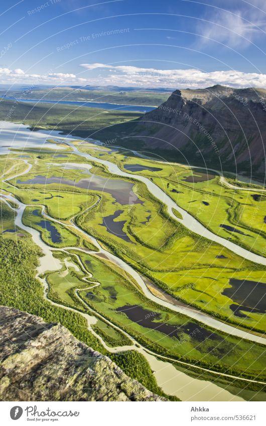 Rappadalen IV ruhig Ferne Berge u. Gebirge Leben Gefühle Freiheit Stil Stimmung elegant Design Schönes Wetter Ausflug Kommunizieren Abenteuer Fluss Netzwerk