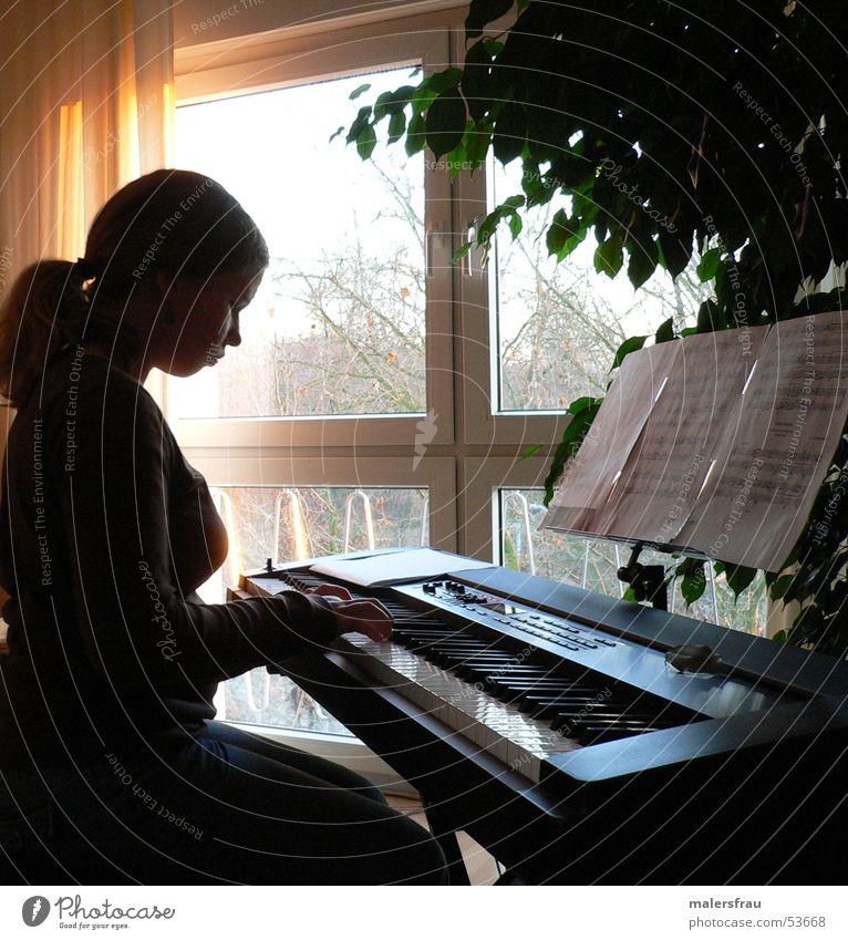 spielende Hände Hand Musik Klavier Abenddämmerung