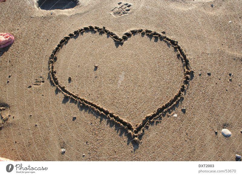 Herz im Sand Wasser Meer Liebe Sand Herz Türkei