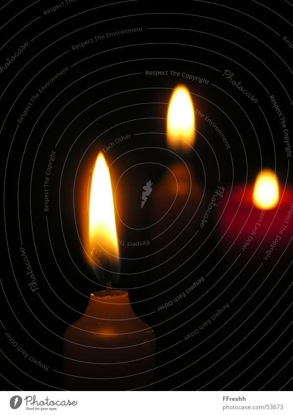 Heisser 3er Kerze Ambiente Kerzenschein