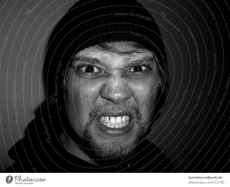 könntsch ausrasten Mann Gesicht Auge Gefühle Zähne Wut Hass