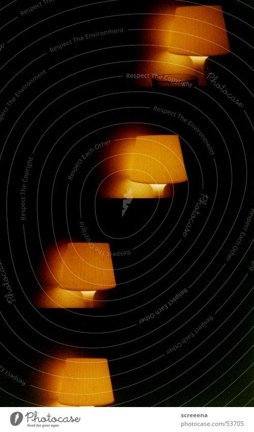 Fire schwarz gelb Lampe dunkel Wärme orange Physik
