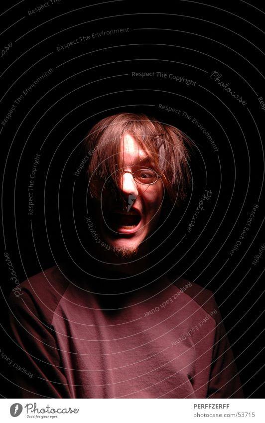 aaah! (2) dunkel Haare & Frisuren Mund 2 Zähne schreien böse laut