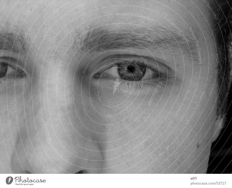 Clear View weiß Gesicht schwarz Auge Nase Wange