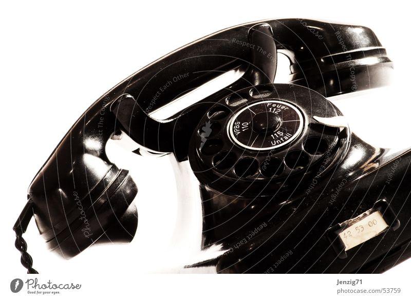 Call me. Telefon retro Publikum antik Anschluss Technik & Technologie Fünfziger Jahre besetzen Wählscheibe Telefonanschluss Freizeichen