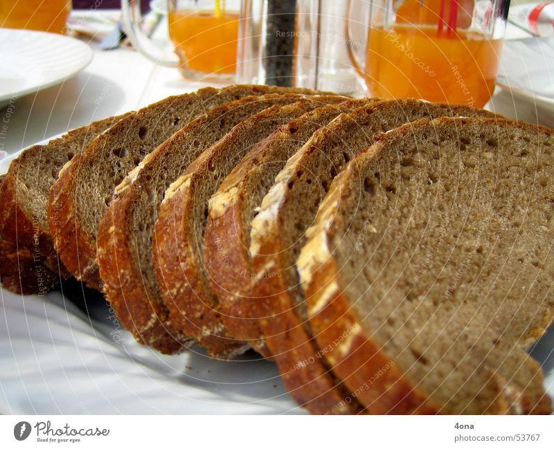 brotscheiben Ernährung Tisch Brot Fensterscheibe
