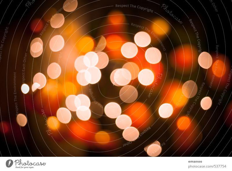Bokeh Balls schön Weihnachten & Advent gelb Beleuchtung Stil Lampe hell Hintergrundbild orange Design leuchten ästhetisch Energie rund Zeichen Kerze