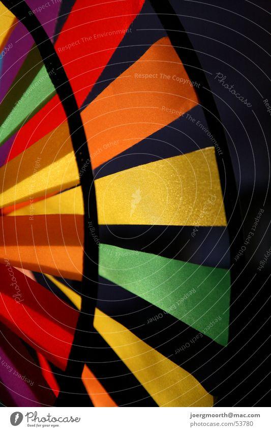 Windrad grün rot Farbe gelb orange Spielzeug Bildausschnitt Anschnitt Farbenspiel