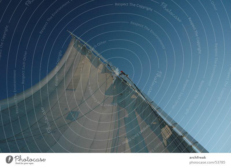 Wüstenwind Wasser Himmel Ferien & Urlaub & Reisen Sport Wasserfahrzeug Wind Fluss Afrika Wüste Handwerk Strommast Tradition Segel Ägypten Arabien Baumwolle