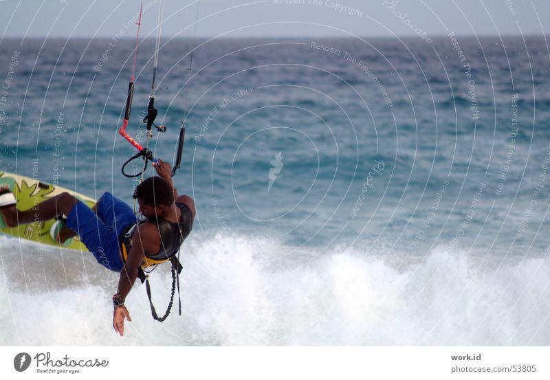 Flying Meer Ferien & Urlaub & Reisen Wellen Flugzeug Luftverkehr lässig Kiting Akrobatik