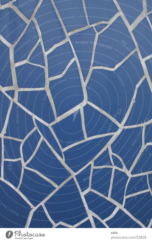 Blaue Kacheln Fuge Mosaik Hannover Handwerk Fliesen u. Kacheln blau Weltausstellung Handarbeit
