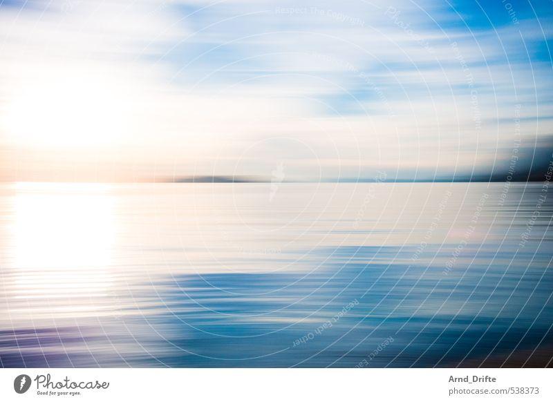 Wisch III Ferien & Urlaub & Reisen blau Sommer Sonne Meer Strand Wärme Bewegung Küste hell Wellen Schönes Wetter Ausflug heiß Sommerurlaub drehen