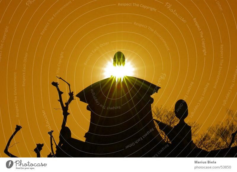 Abenddämmerung Mauer Licht ruhig Sonne orange sun nikon d70 gegnlicht light silence