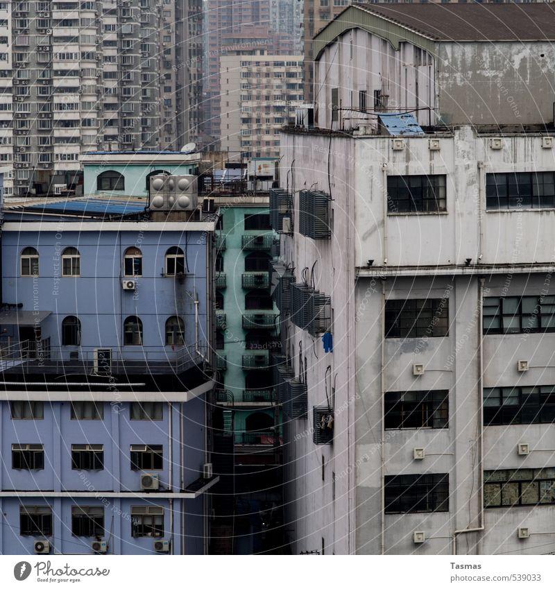 Good Day Today Shanghai China Asien Stadt Stadtzentrum Haus Sehenswürdigkeit Müdigkeit Heimweh Fernweh Grossstadtromantik Blues trist herunterkommen Traurigkeit