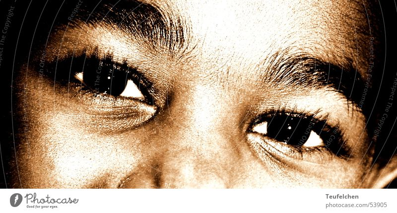 Kinderaugen Mädchen Gesicht Auge lachen süß Afrika Kindergarten Anschnitt Hautfarbe Afroamerikaner