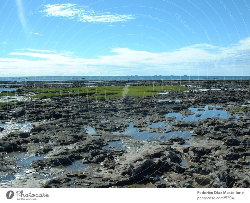 Las Grutas2 Stein Küste Argentinien Chile Patagonien