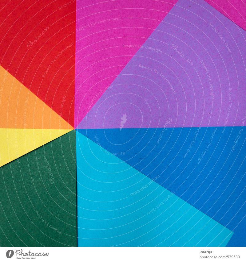 Spektrum Lifestyle elegant Stil Design Werbebranche Printmedien Linie einfach trendy modern schön blau mehrfarbig gelb grün violett orange rosa rot Farbe Papier