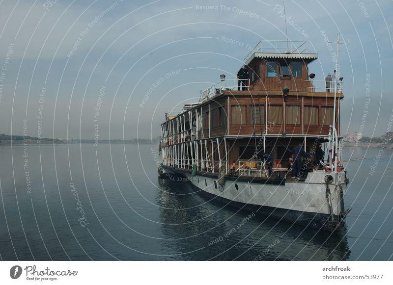 Die gute alte Zeit Stil Wasserfahrzeug Fluss Afrika Ägypten Kriminalroman Kreuzfahrt Dampfschiff Nil Vogelkolonie Dampfmaschine Raddampfer