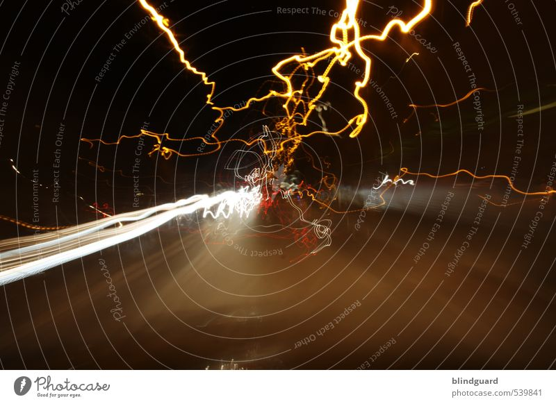 Back To The Light Verkehrswege Autofahren Straße Ferien & Urlaub & Reisen Geschwindigkeit mehrfarbig gelb orange rot schwarz weiß Eile Beleuchtung