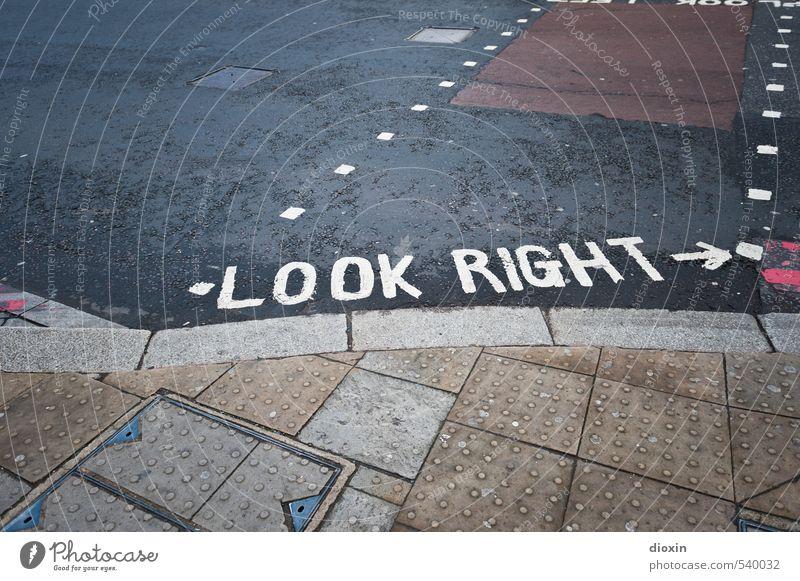 look right (dry version) Ferien & Urlaub & Reisen Tourismus Sightseeing Städtereise London England Großbritannien Stadt Hauptstadt Stadtzentrum Menschenleer