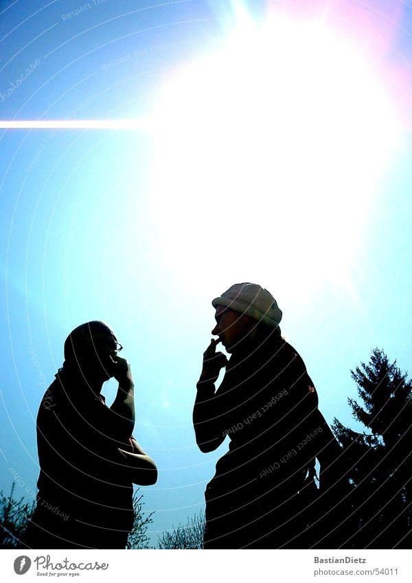 Überlegung Gedanke Beratung Denken planen sprechen Paar paarweise