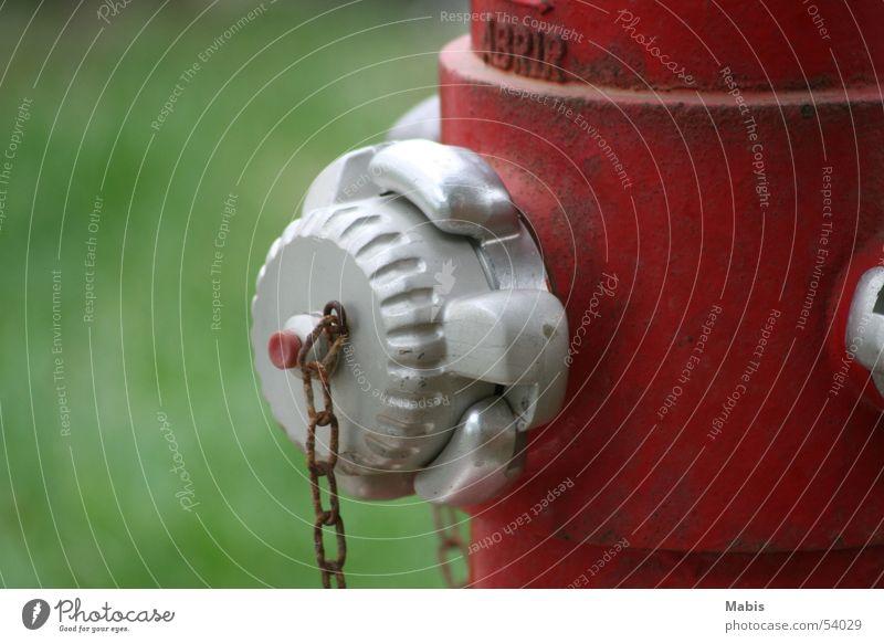 Für die Feuerwehr Wasser grün rot Dinge silber Kette Hydrant