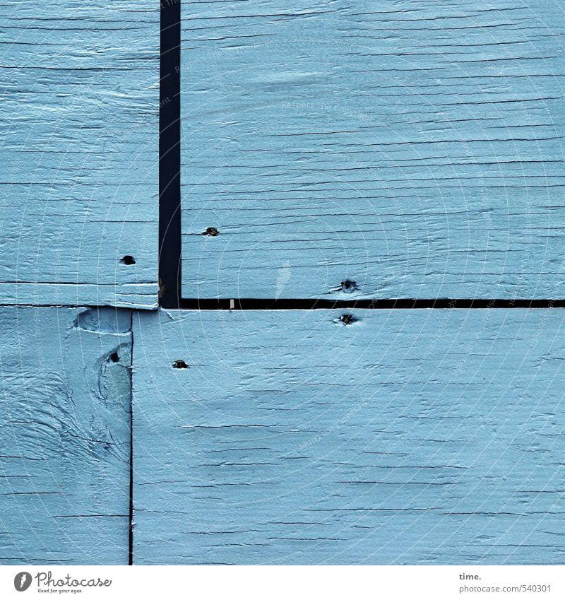 passt schon Wand Mauer Holz Fassade Ordnung Ecke Vergänglichkeit Sicherheit Schutz Baustelle Konzentration Zusammenhalt Verfall Dienstleistungsgewerbe Handwerk