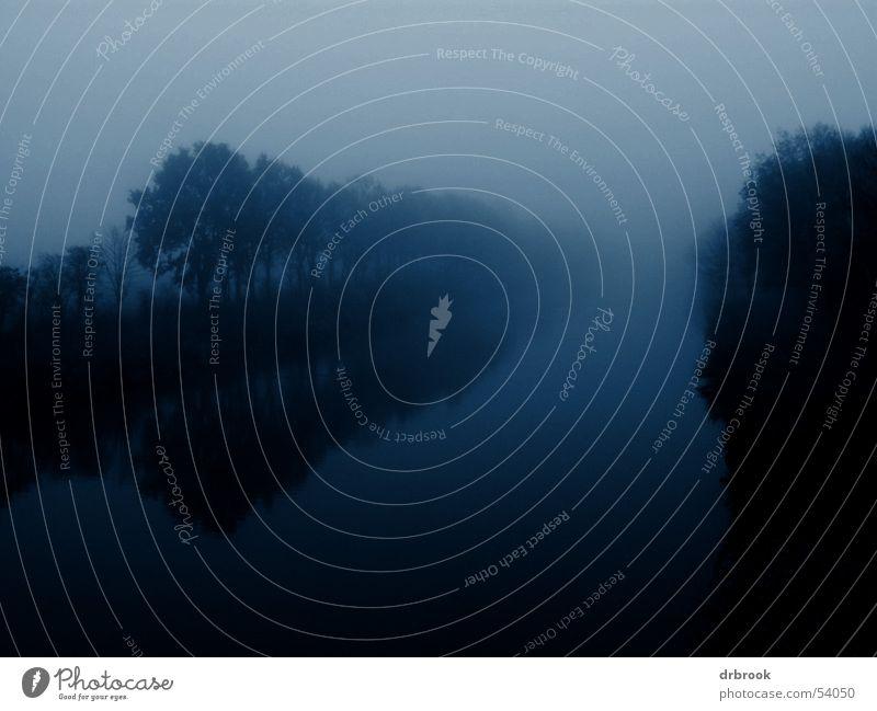 Mystic River Natur Baum Einsamkeit Ferne Angst Nebel Trauer Fluss geheimnisvoll Verzweiflung Bach Panik mystisch Abwasserkanal