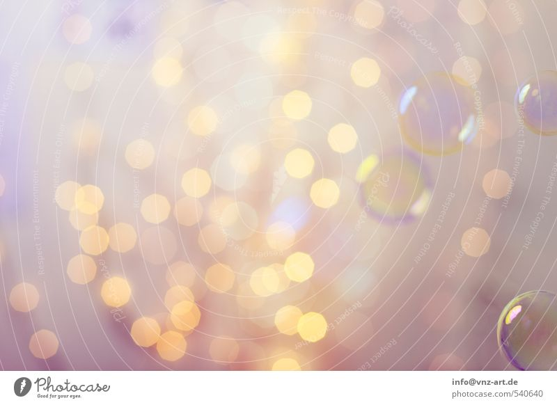 Bokeh Lifestyle elegant Feste & Feiern Weihnachten & Advent Silvester u. Neujahr hell gelb gold violett Blase Seifenblase Kugel rund Unschärfe