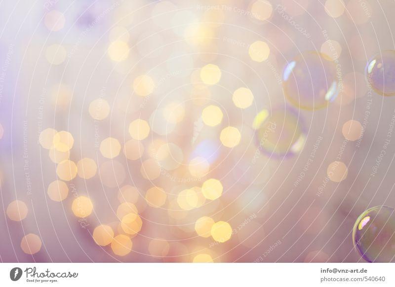 Bokeh Weihnachten & Advent gelb Feste & Feiern hell gold elegant Lifestyle rund violett Silvester u. Neujahr Kugel Schweben Blase Seifenblase
