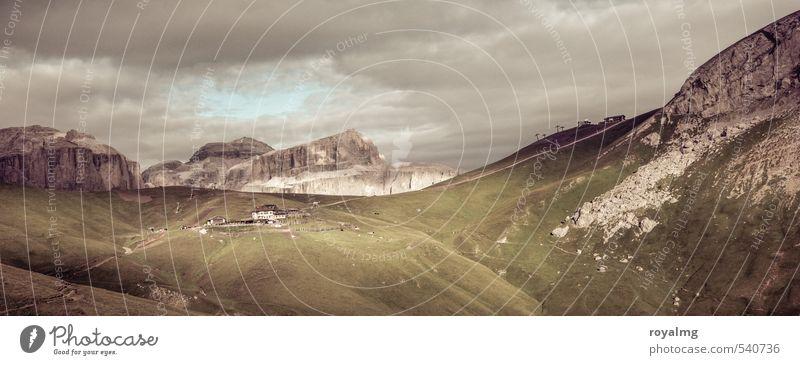 Ankunft Natur Ferien & Urlaub & Reisen Landschaft Wolken Ferne Umwelt Berge u. Gebirge Freiheit Freizeit & Hobby wandern Ausflug Alpen Sommerurlaub Dolomiten