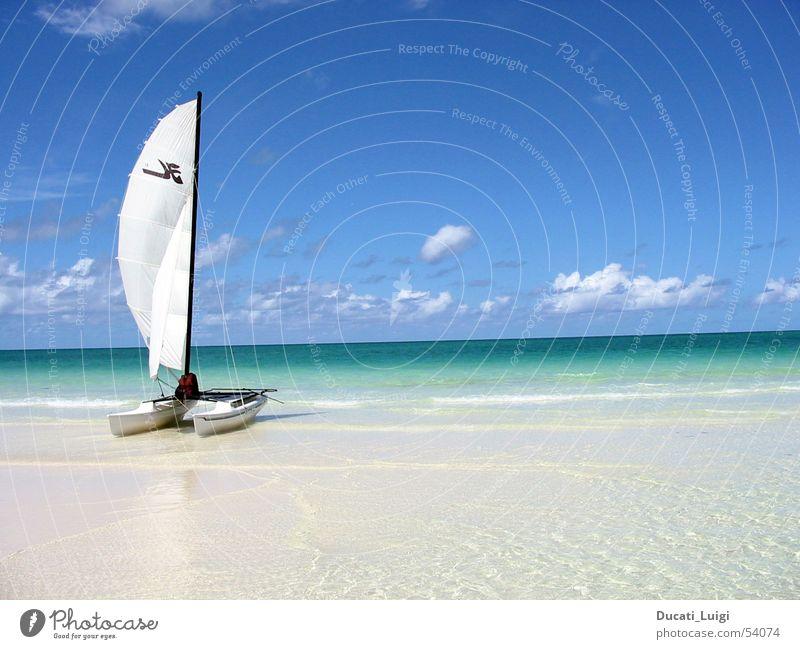 away ... Sonne Meer Strand Ferien & Urlaub & Reisen Erholung Freiheit Sand Insel Schwimmen & Baden Segeln Kuba Schönes Wetter Blauer Himmel Katamaran