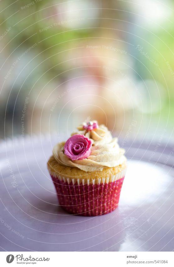 sweet Kuchen Dessert Süßwaren Ernährung Picknick Slowfood Fingerfood lecker süß rosa Cupcake Farbfoto Außenaufnahme Menschenleer Textfreiraum oben Tag