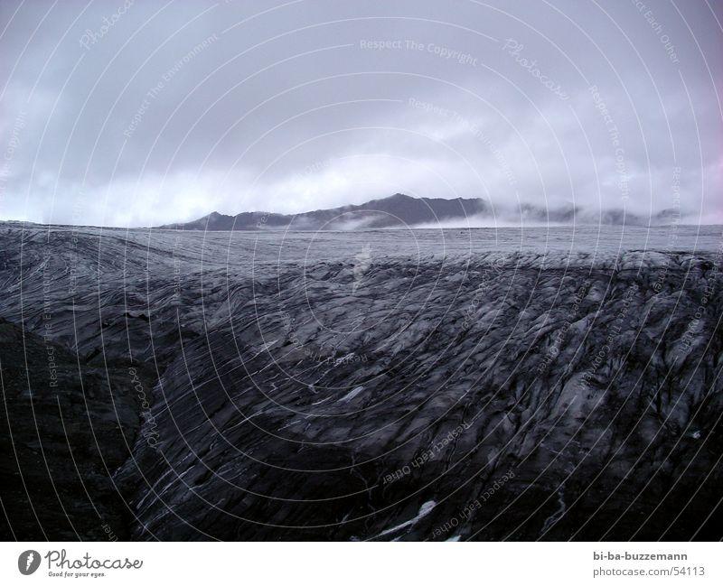 Mordor schwarz Wolken dunkel kalt Berge u. Gebirge Wärme Island unheimlich Vulkan Lava