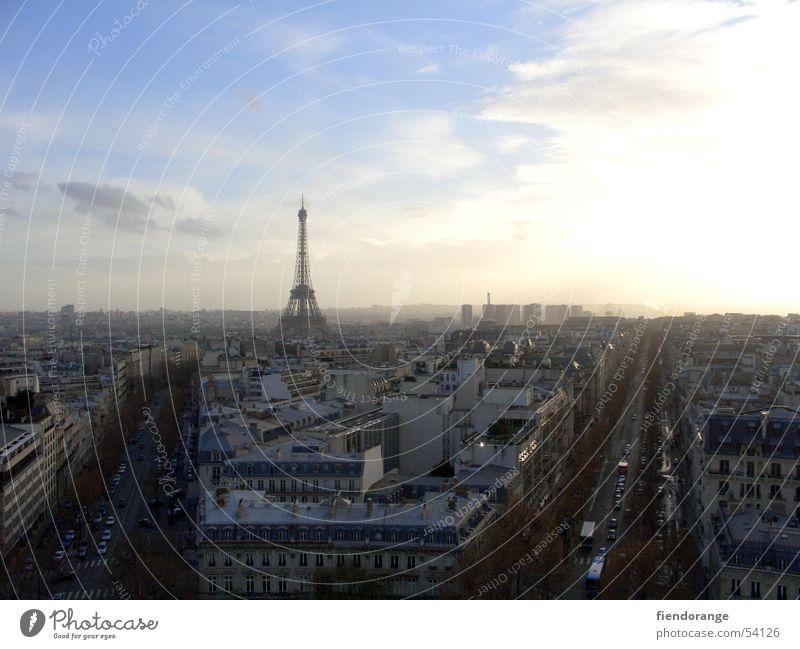 paris is in the air Tour d'Eiffel Allee Luft Stadt Arc de Triomphe