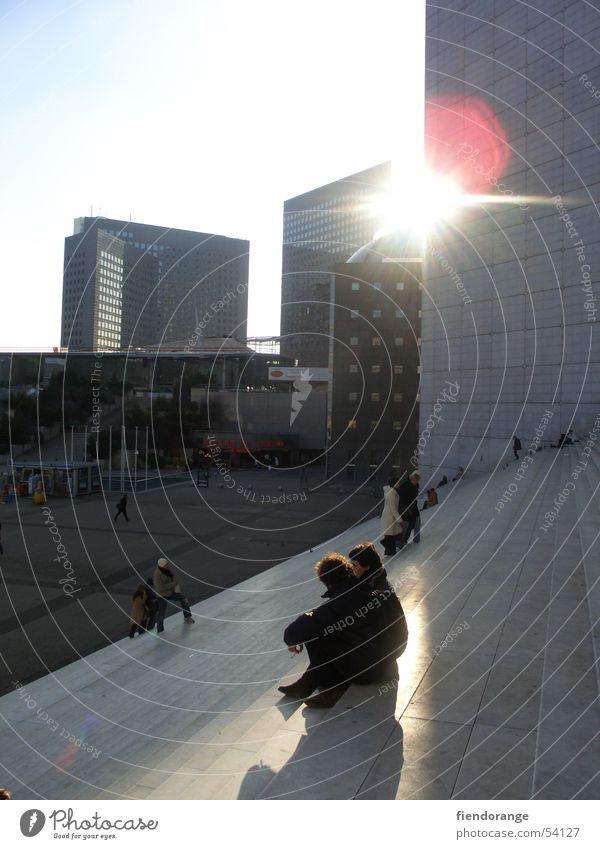 sunbeam Sonne Erholung Hochhaus Paris Frankreich La Grande Arche