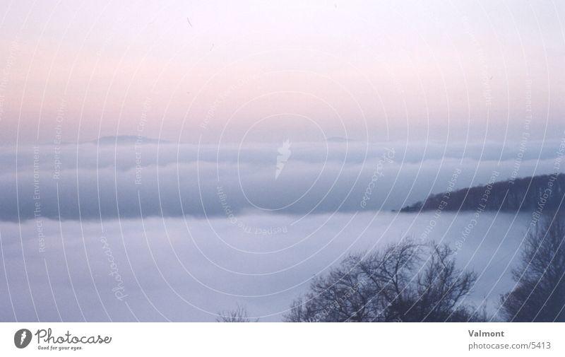 nebellandschaft 1 Natur Berge u. Gebirge Nebel