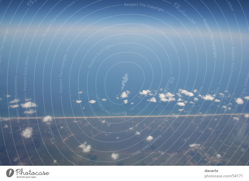 Landzunge Himmel Strand Luft Flugzeug Landzunge