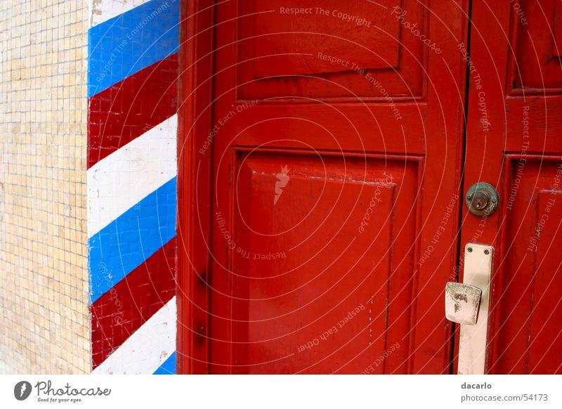 red door Stadt rot Tür Streifen