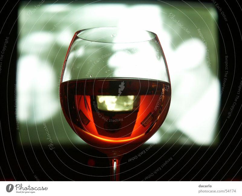 Weinglas Glas Fernseher Wein Spiegel Glas Weinglas