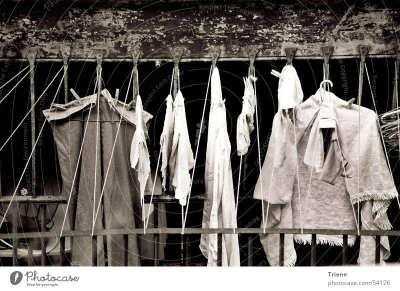 Waschtag Traurigkeit Wäsche Barcelona Spanien