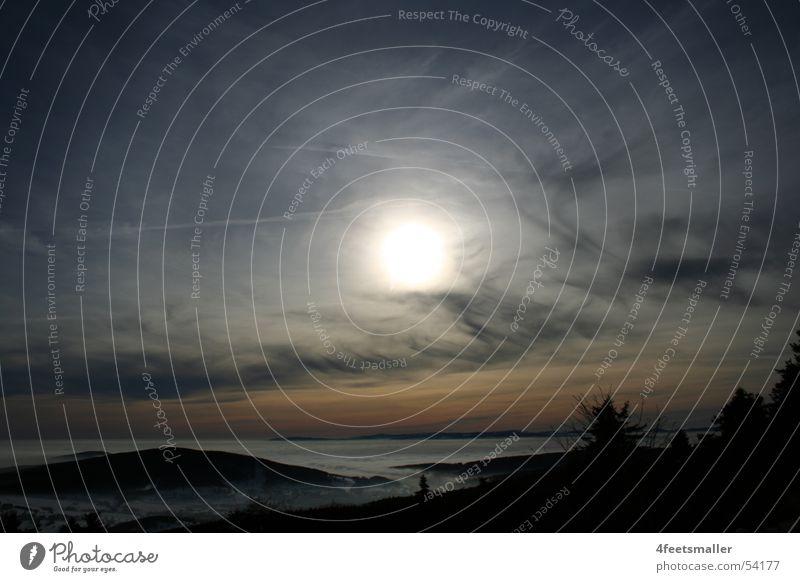 Blue Sun Wolken Nebel Horizont Baum Thüringen Sonne Wind brotterode Berge u. Gebirge
