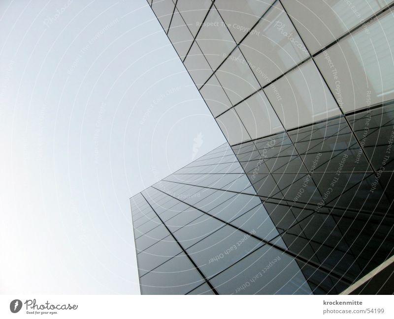 Skyscraper I Love You Himmel Haus Fenster Linie Glas hoch Hochhaus groß Glasfassade emporragend